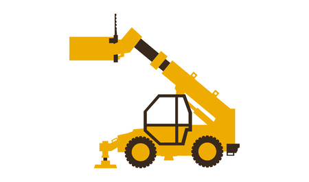Icon telehandler. Construction machinery. Vector illustration. Sleek style.