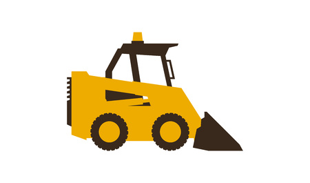 Icon mini loader. Construction machinery. Vector illustration. Sleek style.