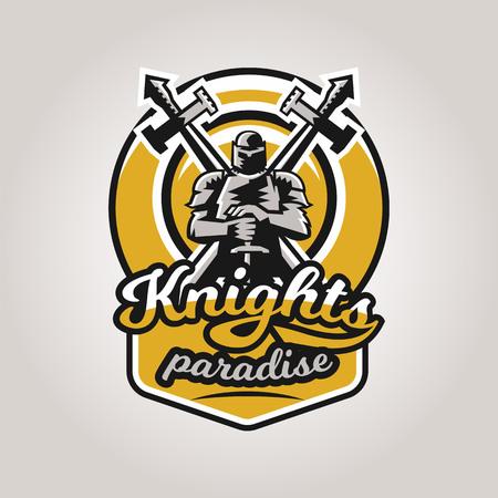 Knight icon image design  イラスト・ベクター素材