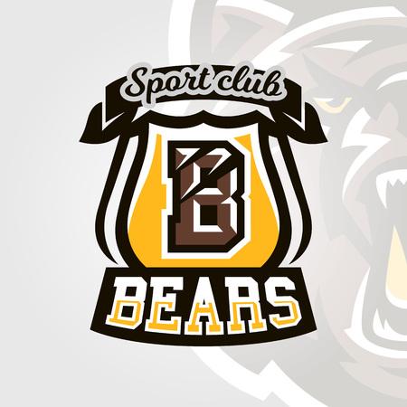 Bears club icon illustration