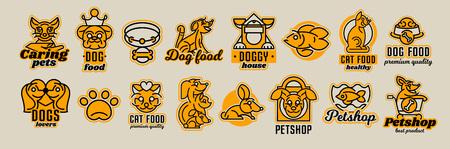Set of animal icons illustration 向量圖像