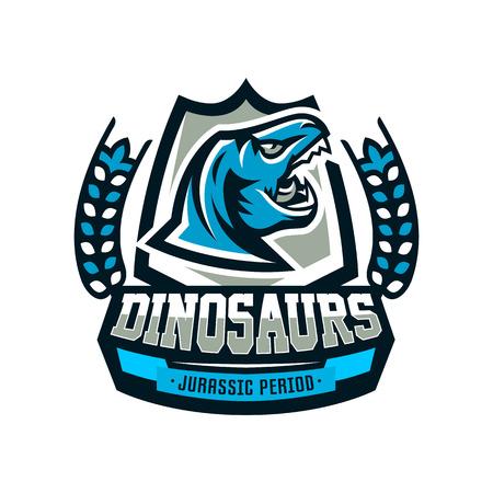 Emblem of dinosaur, vector illustration. Illustration