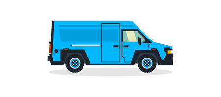 Van, commercial transport, transport for cargo delivery. Shipping. Vector illustration.