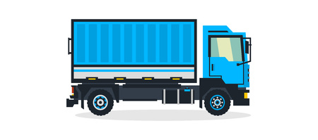 Truck, commercial transport, transport for the delivery of goods. Shipping. Vector illustration Illustration