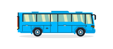 Bus, transport for transportation of people. Tourist bus. Vector illustration.