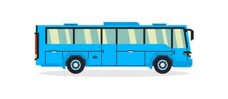 Bus, transport for transportation of people. Tourist bus. Vector illustration.