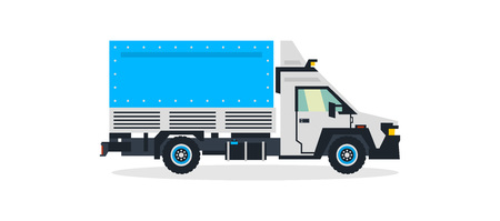 Truck, commercial transport, transport for the delivery of goods. Shipping. Vector illustration.