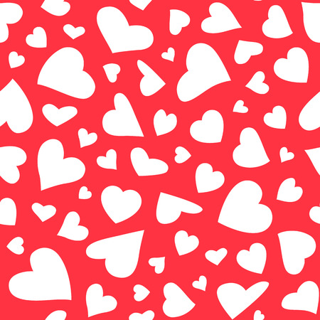 amur: Seamless pattern with hearts. Illustration