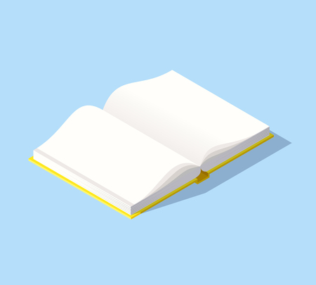 Isometric book icon in flat design style. Illustration