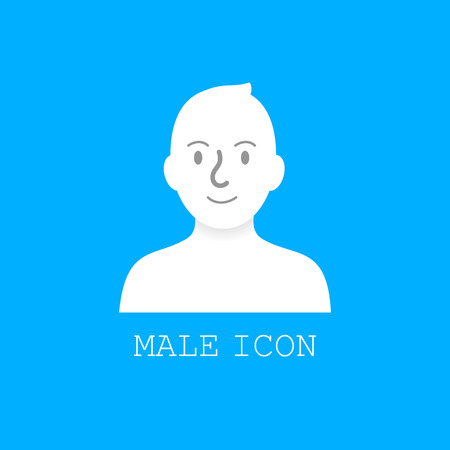 User male icon vector.
