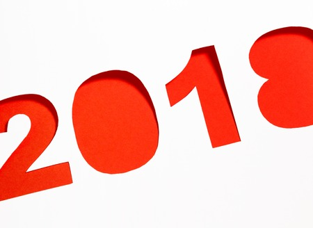 New year 2018 paper background Stock Photo