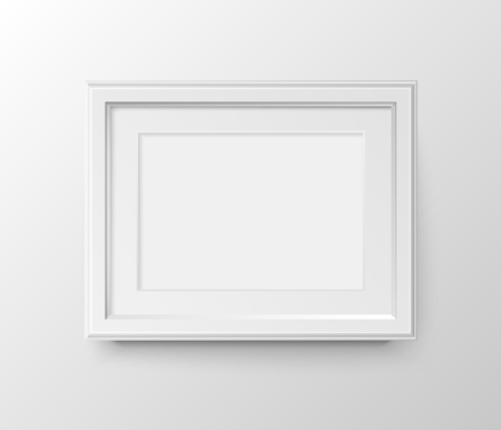 White frame for photos