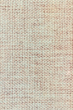 Blank textile, jute, linen tag, piece isolated on white background Stock Photo