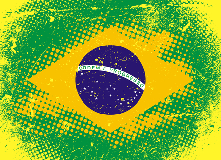 Textural Flag of Brazil