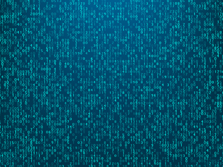 Abstract technology computer code background Illustration