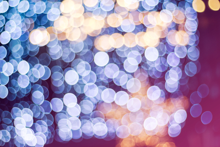 Blurry garlands with bokeh