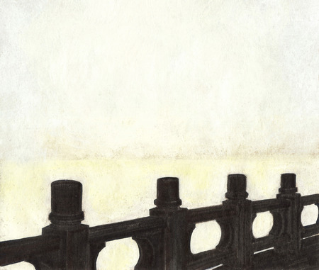 Illustration of summer promenade