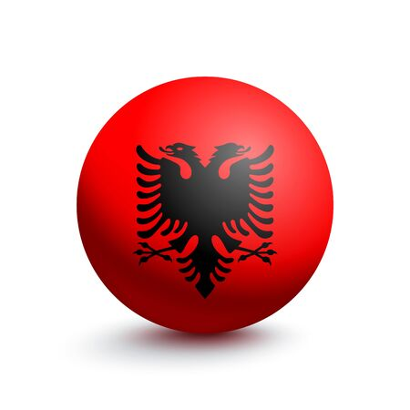 Flag of Albania in the form of a ball