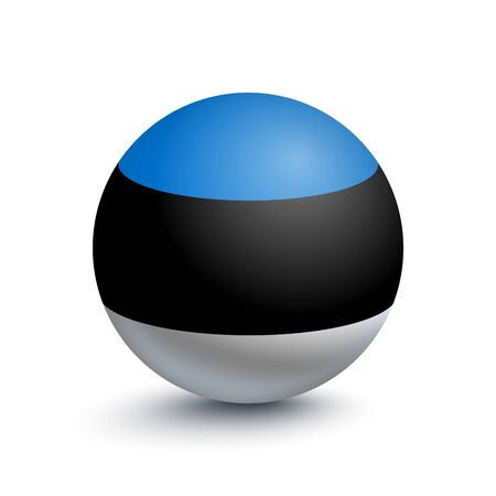 Flag of Estonia in the form of a ball
