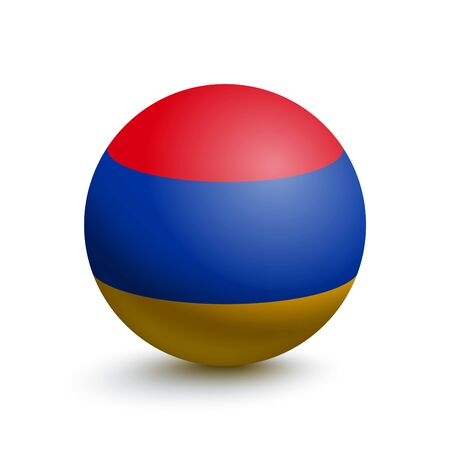 Flag of Armenia in the form of a ball