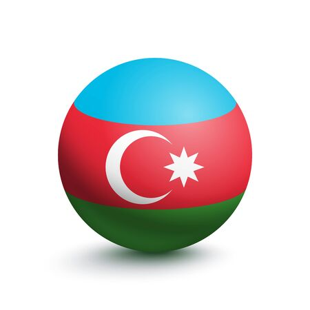 Flag of Azerbaijan in the form of a ball