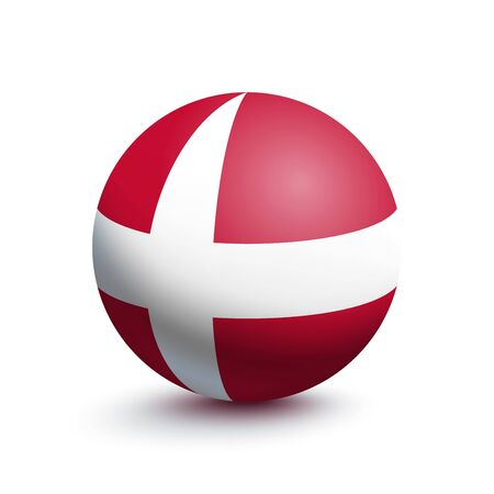 Flag of Denmark in the form of a ball