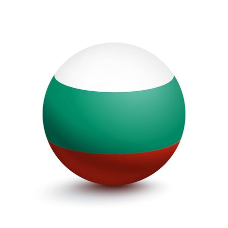 Flag of Bulgaria in the form of a ball Ilustrace