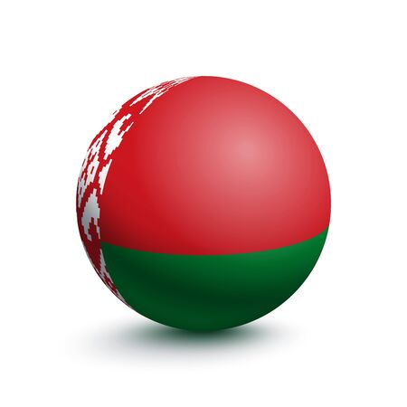Flag of Belarus in the form of a ball