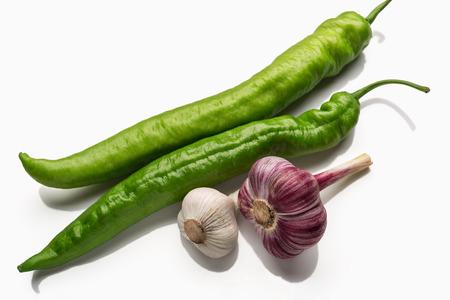 pimenton: vainas de pimiento verde