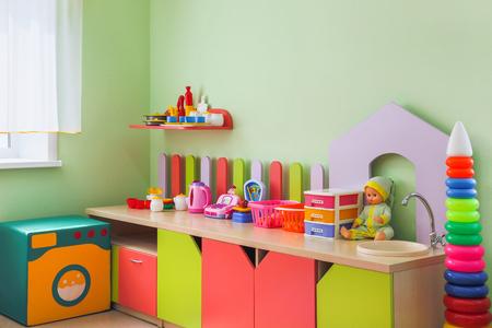 children's corner with toys