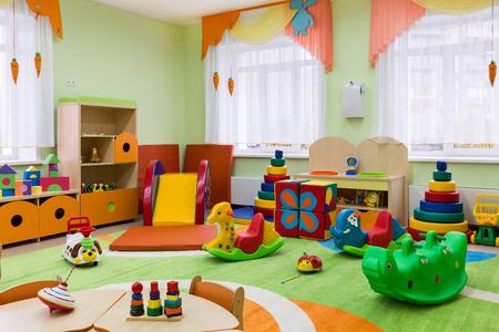 kindergarten toys: game room in the kindergarten