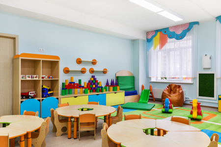 game room in the kindergarten