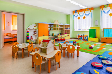 nursery education: Kindergarten, game room Stock Photo
