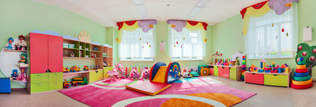 Panorama children's playroom 스톡 콘텐츠