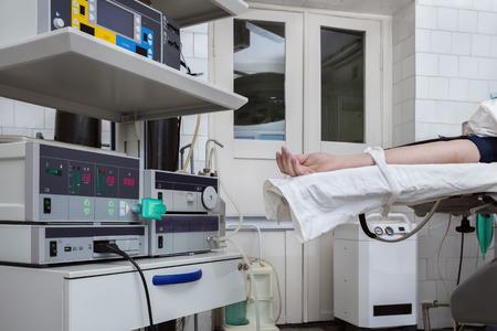 resuscitation: resuscitation room equipment Stock Photo