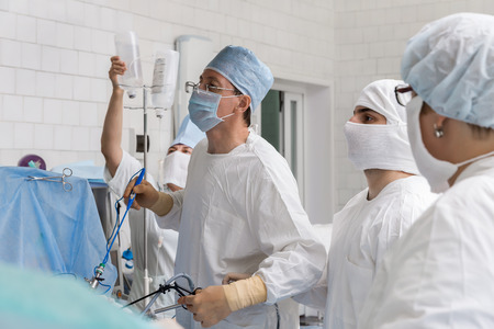 laparoscopic: laparoscopic surgery Stock Photo