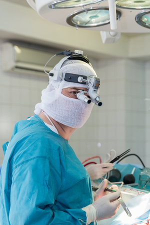 operating room: surgeon in the operating room