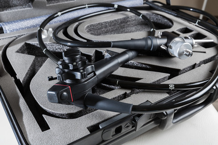 endoscope: Endoscope in a suitcase Stock Photo