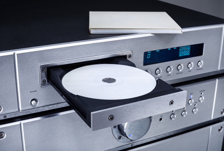 dvdr: DVD players and amplifiers Stock Photo