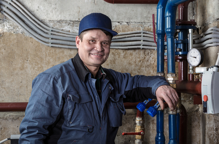 technical service: Plumber in the basement
