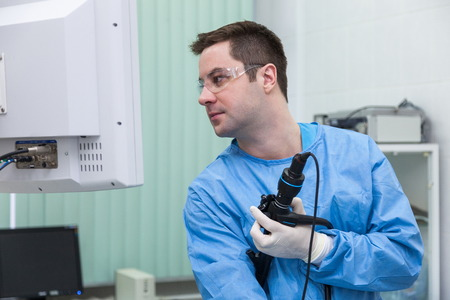 endoscope: Examination in endoscope room