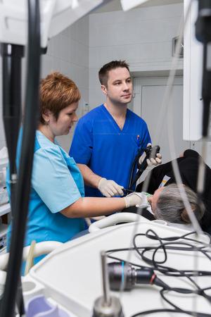 endoscope: endoscopic examination room
