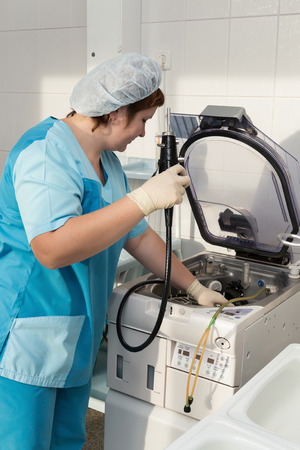Disinfection of the endoscope