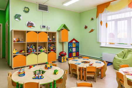 Kindergarten, game room 스톡 콘텐츠