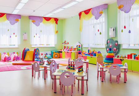 nursery school: Kindergarten, game room Stock Photo