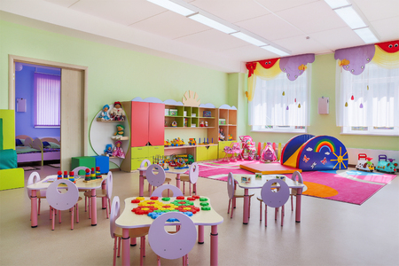 Kindergarten, game room 免版税图像