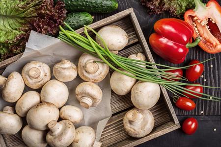 hongo: Setas, setas, verduras