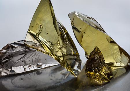 splinter: Big glass piece of art.