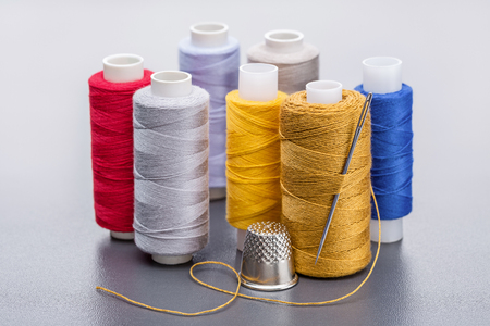 Threads of different colors for needlework. 写真素材