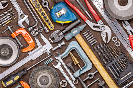Home toolset for repair, construction, DIY. Tools for every day. Father's Day and other men's holidays.